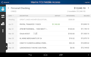 Screenshot of Marine FCU Mobile Access