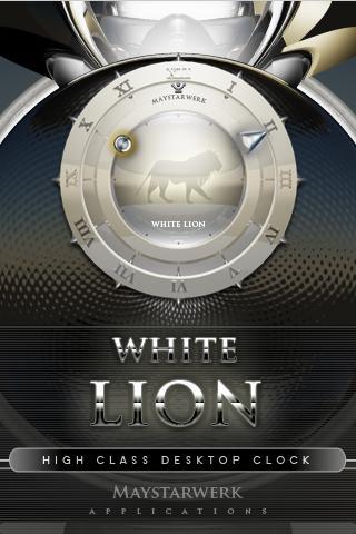 白獅子時鐘部件