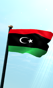 Libya Flag 3D Free Wallpaper - screenshot