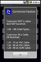 Screenshot of Cable Impedance Calculator Zs