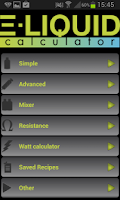 Screenshot of E-Liquid Calculator NOADS