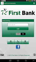Screenshot of First Bank