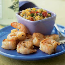 Spiced Shrimp with Peach Salsa