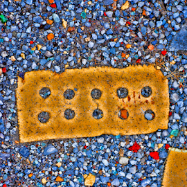 Brick in colorored pebbles by Steve Rogers - Nature Up Close Rock & Stone