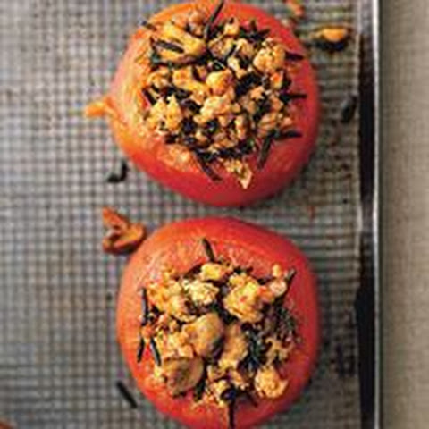 Chicken-and-Wild-Rice-Stuffed Tomatoes