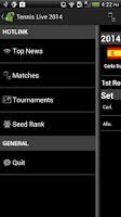 Screenshot of Tennis Scores 2014 Wimbledon