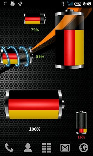 ドイツ - 旗バッテリーウィジェット