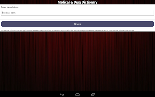 Screenshot of Medical & Drug Dictionary