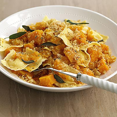 Ravioli With Squash & Crunchy Crumbs