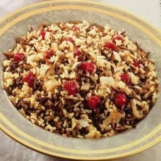 Wild Rice with Cranberries and Caramelized Onions