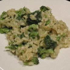 Broccoli Risotto with Cream and Lemon