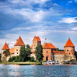 Trakai Island Castle in Trakai, Lithuania ... So Beautiful ... I ❤️ LITHUANIA ... by Maritha Graph - Buildings & Architecture Public & Historical ( trakai, island, castle, lithuania, sobeautiful, europe )