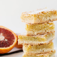 Blood Orange and Vanilla Bean Bars