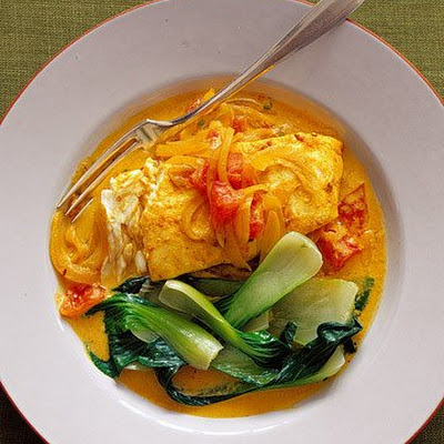 Indian-Spiced Halibut with Yogurt