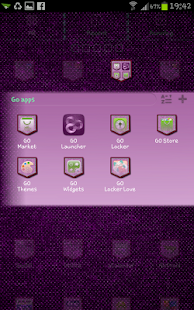 Jeans Pink Go Launcher Theme - screenshot