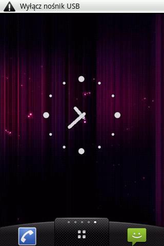White dots Clock Widget