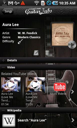 Pocket Jamz Guitar Tabs Lite