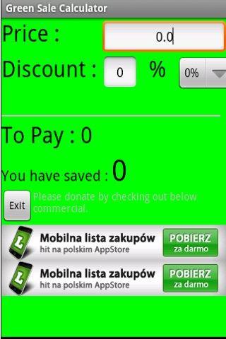 Sale Green Calculator