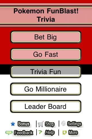 Pokemon FunBlast Trivia LT