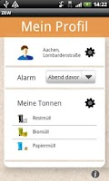 Screenshot of Abfall App ZEW
