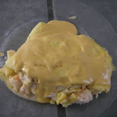 Seafood Omelets with Creamy Cheese Sauce