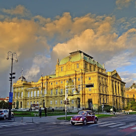 HNK - Zagreb by Tihomir Beller - City,  Street & Park  Historic Districts ( theatre, street, croatia, zagreb, city )