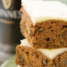 Guinness Applesauce Cake with Lemon Icing