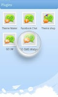 Screenshot of GO SMS Pro Theme Maker plug-in