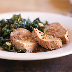 Honey-Mustard Pork Tenderloin with Kale