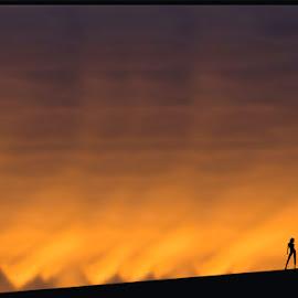 Sunset in San Simeon by Fernand De Canne - People Street & Candids