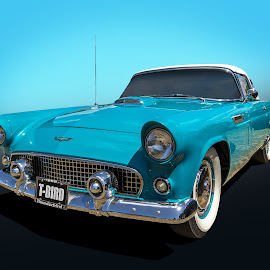 56 Thunderbird by Keith Hawley - Transportation Automobiles ( car, 1956 ford thunderbird, 1956 t-bird, transport, vintage, cars, thunderbird, 1956, transportation, ford, classic )