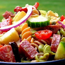 Antipasto Pasta Salad with Tangy Red Wine Vinaigrette