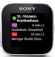 Screenshot of SmartTransit for SmartWatch
