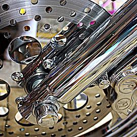 Harley Chrome Wheel by Donna Pavlik - Transportation Motorcycles