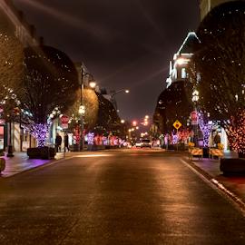 Night Lights by Darren Sutherland - City,  Street & Park  Night