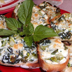 Spinach and Ricotta Bruschetta