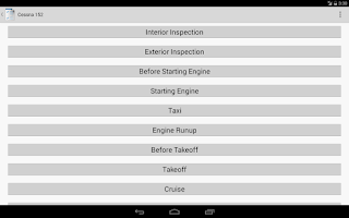 Screenshot of Aviation Checklists