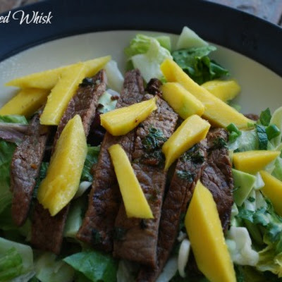 Grilled Asian Flank Steak and Mango Salad