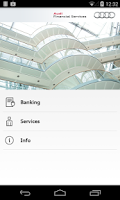 Screenshot of Audi Banking
