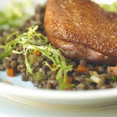 Warm Lentils with Vinaigrette