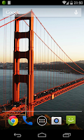 Screenshot of Golden Gate Wallpaper