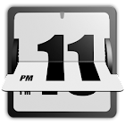 3D Animated Flip Clock WHITE icon