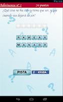 Screenshot of El juego de las adivinanzas