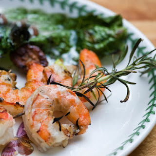 Shrimp on Rosemary Skewers
