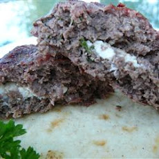 Feta-Stuffed Hamburgers