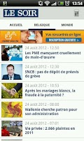 Screenshot of Le Soir