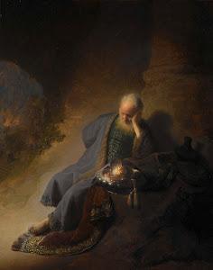 RIJKS: Rembrandt Harmensz. van Rijn: Jeremiah Lamenting the Destruction of Jerusalem 1630
