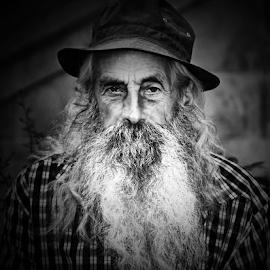 The grandfather by Antonio Amen - People Portraits of Men ( beards, old, grandfather, old man, long beards, man, hat,  )