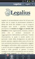 Screenshot of Legalius la legge per tutti