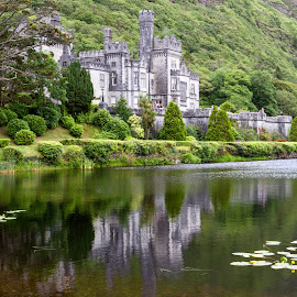 The Kylemore Abbey by Gaby Halperin - Landscapes Travel ( holiday, connemara, water reflection, ireland, lake, beauty, travel, kylemore abbey )